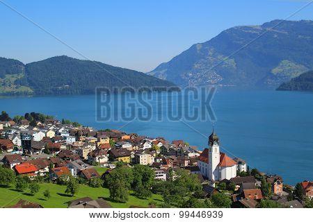Town In Italy, Lake Como