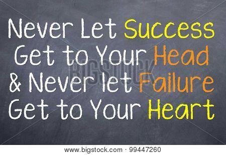 Never Let Success