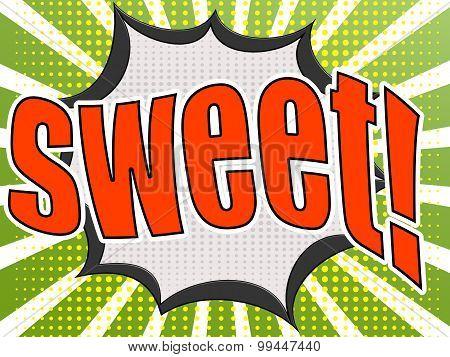 Comic Speech Bubble Red Sweet