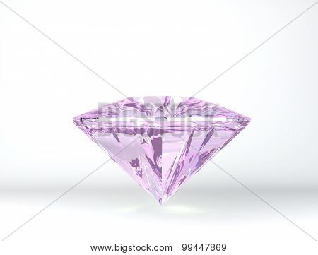 Diamonds On White Background