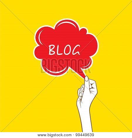 blog message concept design