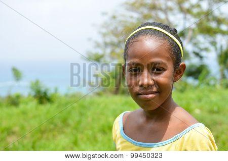 Creole Teen Smiling, Corn Island, Nicaragua