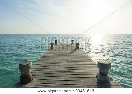 Sea Dock And Morning Light
