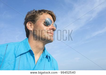 Man With Eyes On The Sea