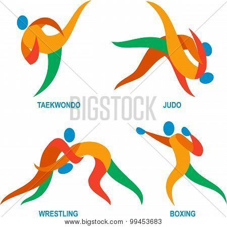 Judo Taekwondo Boxing Wrestiling Icon