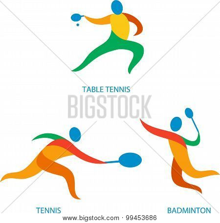 Table Tennis Badminton Icon
