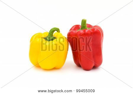 Sweet Peppers Isolated On A White Background