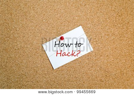 How To Hack Text Concept