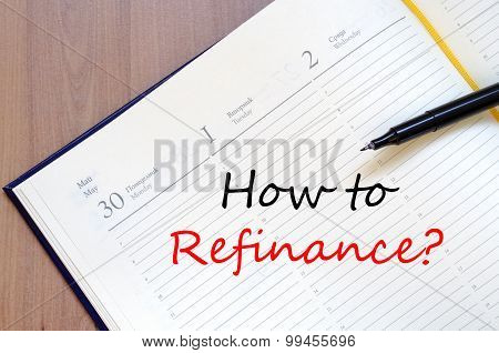 How To Refinance Text Concept