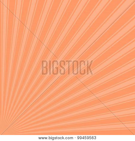 Atomic tangerine color stripes funky rays background