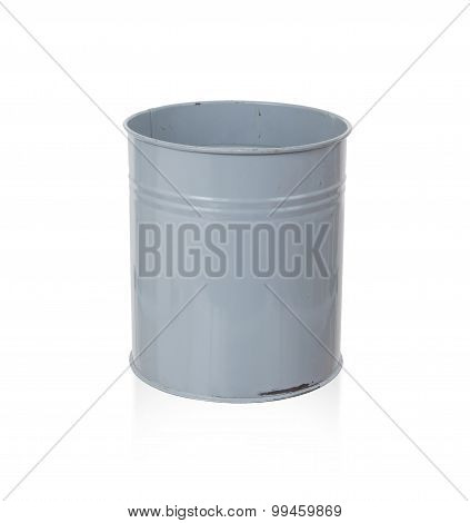 Old Metal Trash Bin
