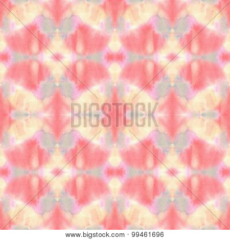 Seamless Watercolor Abstract Ethnic Ornamental Tribal Pattern.