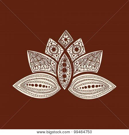 Vector  Tattoo Doodle Henna Lotus