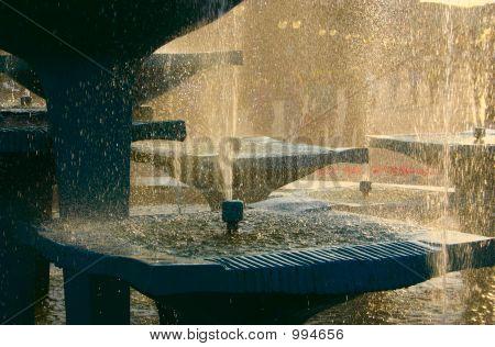 Fountain Against Bright Sun