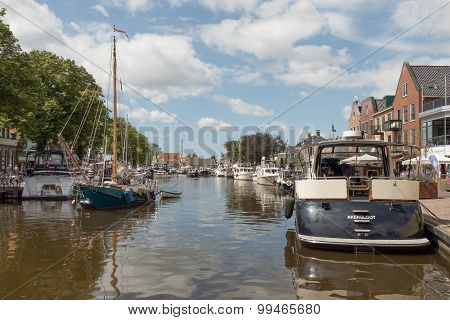 Pleasure Yachts In Lemmer.