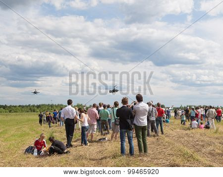 A Lot Of People At An Air Show In Kubinka