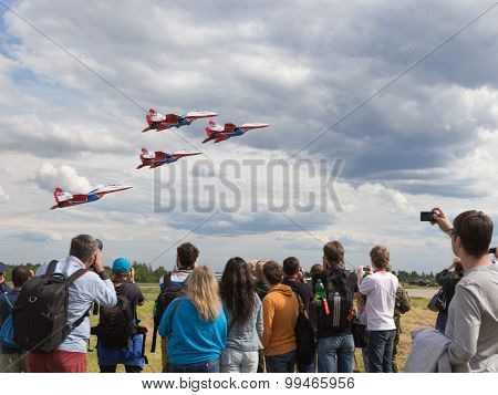 Flying Aircraft Aerobatic Team Swifts