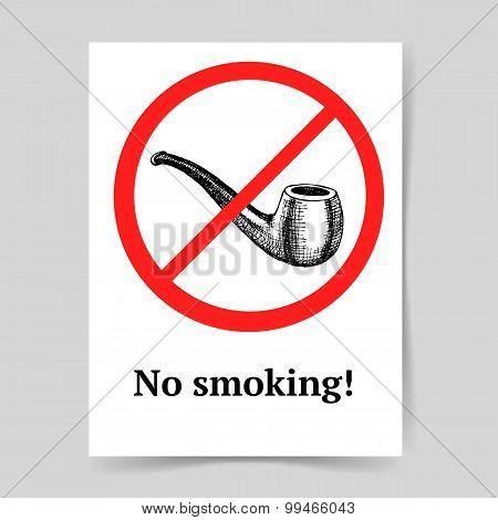 Sketch No Smoking Sign