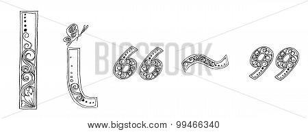I Symbol Vanda Freehand Pencil Sketch Font