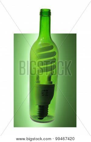 Glass Bottle And Light Bulb