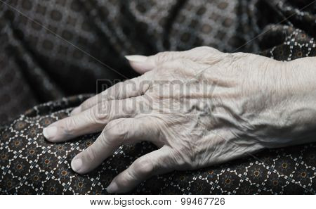 Asian Chineese Old Woman Hand Like Old Image