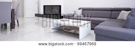 Angular Sofa In Cozy Interior