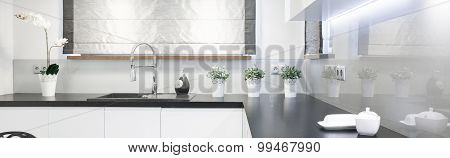 Wooden Worktop In Beauty Kitchen