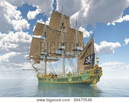Pirate ship of the 18th century