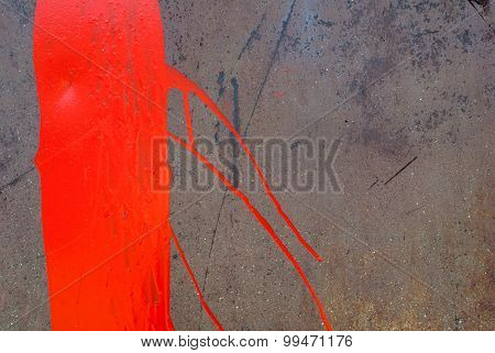 surface of rusty iron with remnants of paint texture background