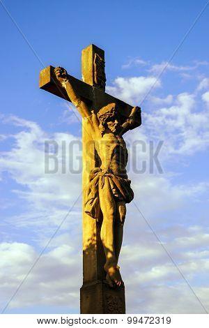 Crucifixion Near Chapelle Saint-sebastien De Dambach-la-ville , Alsace