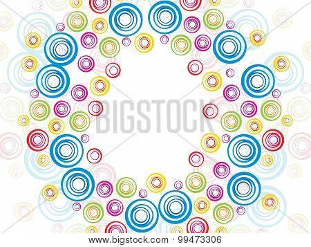 Abstract Colorful Artistic Rainbow Circle