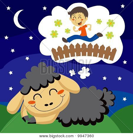 Black Sheep counting Children