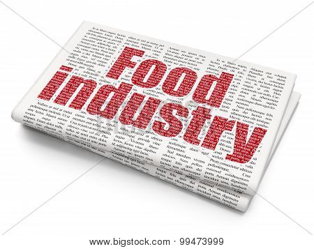 Industry concept: Food Industry on Newspaper background
