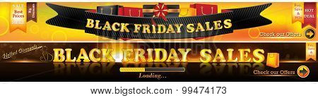Black Friday sales banner set
