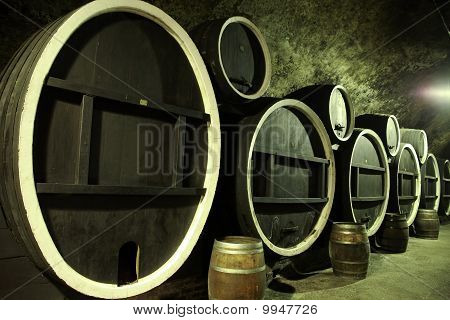 Giant Old Wooden Barrels