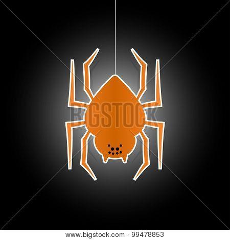 Halloween spider flat icon symbol
