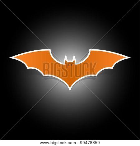 Halloween bat flat icon symbol