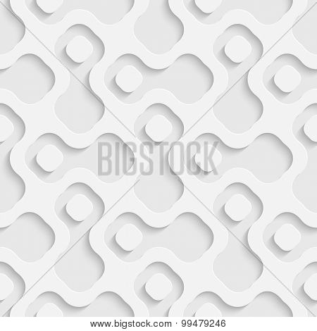 Seamless Grid Pattern. Vector Soft Background. Regular White Texture