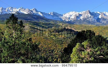Alpine Scenery Of Colorado During Foliage Season