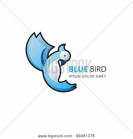Bird Vector Logo.  Abstract Icon. Business Concept.