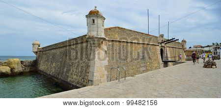 The old fort by the harbor at Lagos Algarve Portugal.