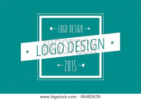 Hipster modern square thin style  logo