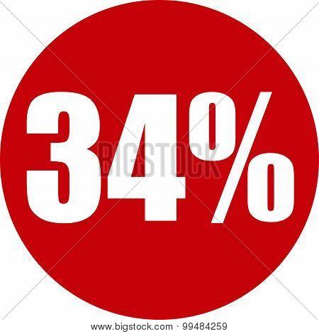 34 Percent Icon