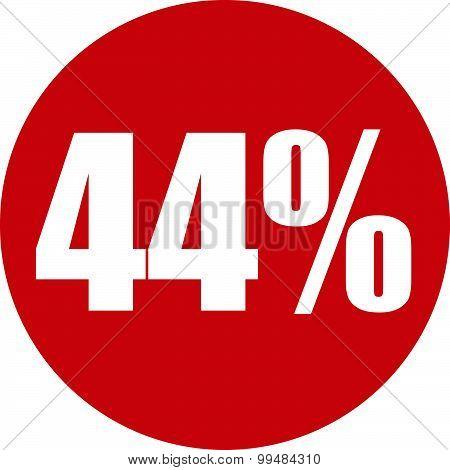 44 Percent Icon