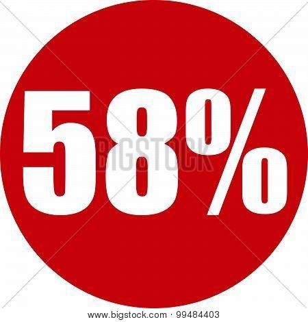 58 Percent Icon
