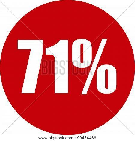71 Percent Icon