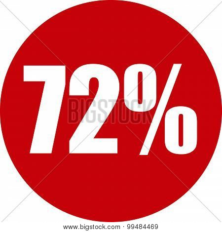72 Percent Icon