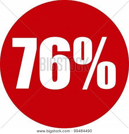 76 Percent Icon