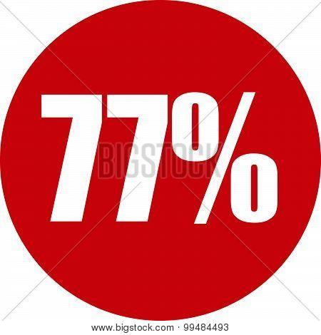 77 Percent Icon