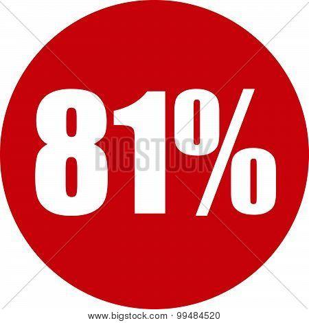 81 Percent Icon
